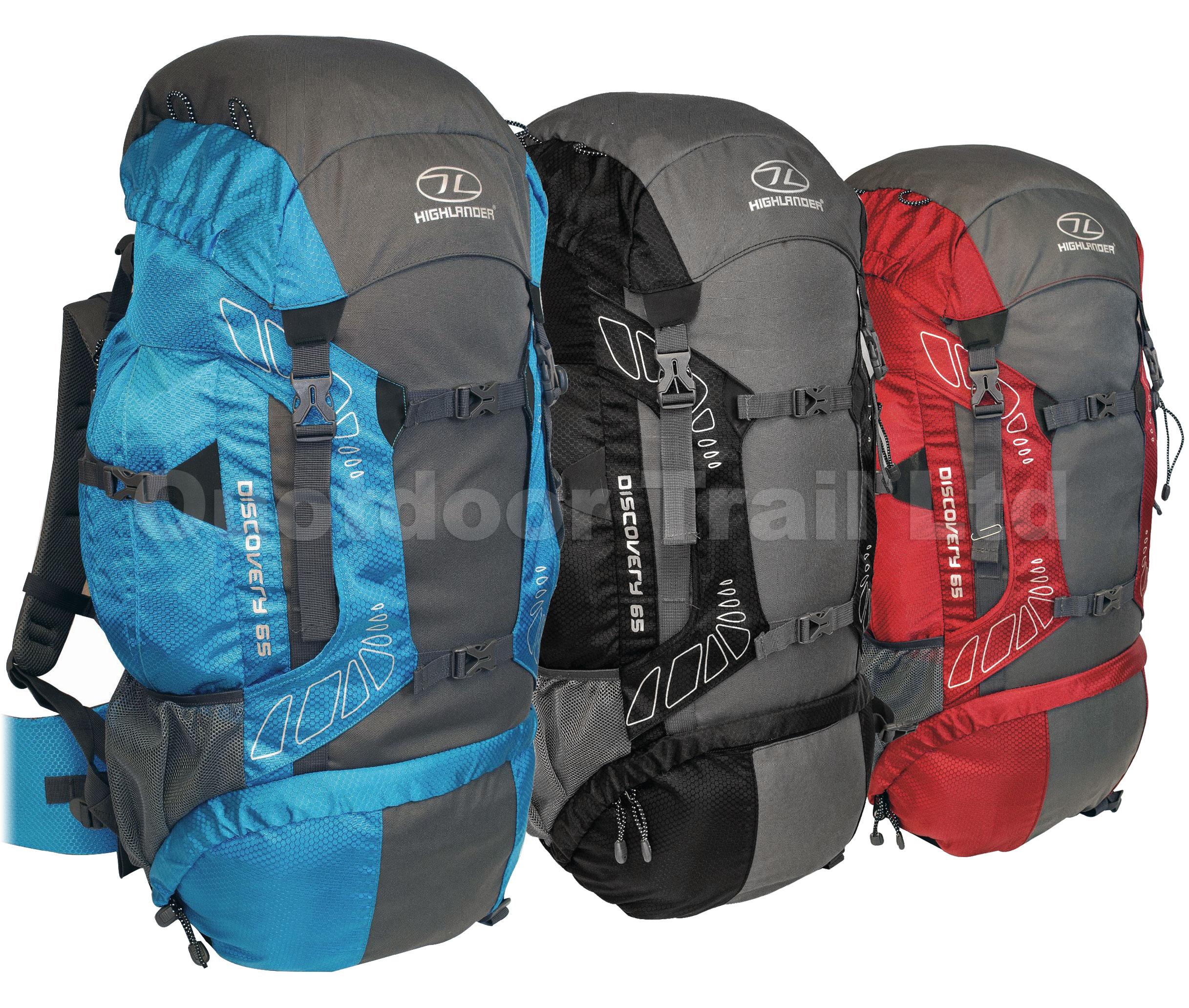 Highlander Discovery 65 Litre Walking Hiking Camping Backpack ...