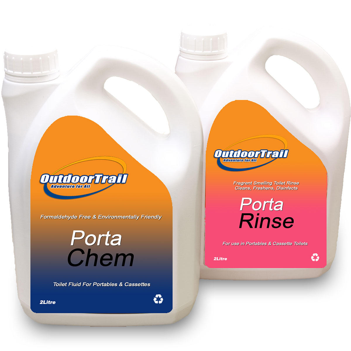 Porta Chem + Porta Rinse 2L Chemical Toilet Fluid (Twinpack) Preview
