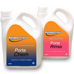 Outdoor Trail Porta Chem + Porta Rinse TwinPack 2L Chemical Toilet Fluid