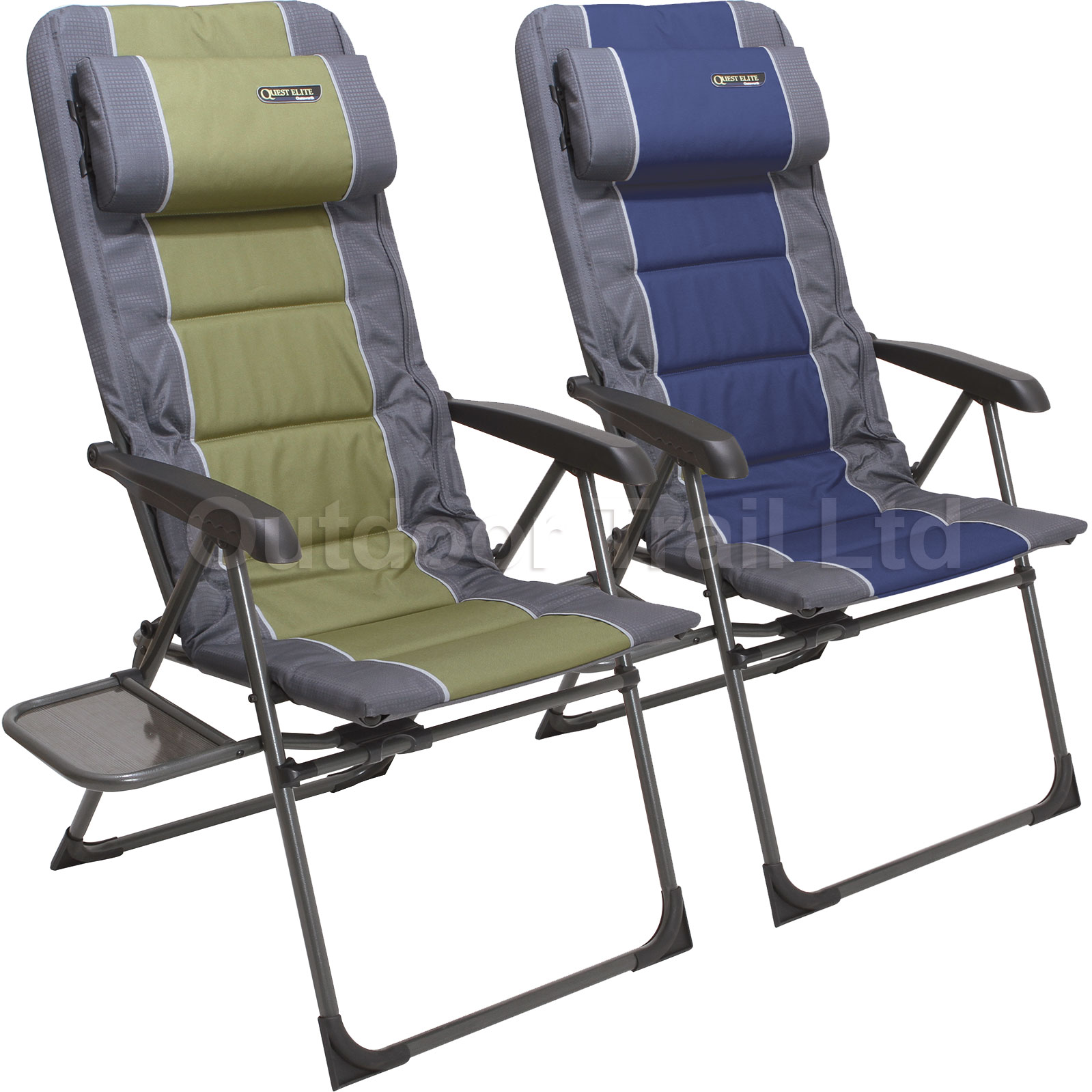 Quest Elite Ragley SL Folding Portable Camping Seat Chair & Side Table Tw