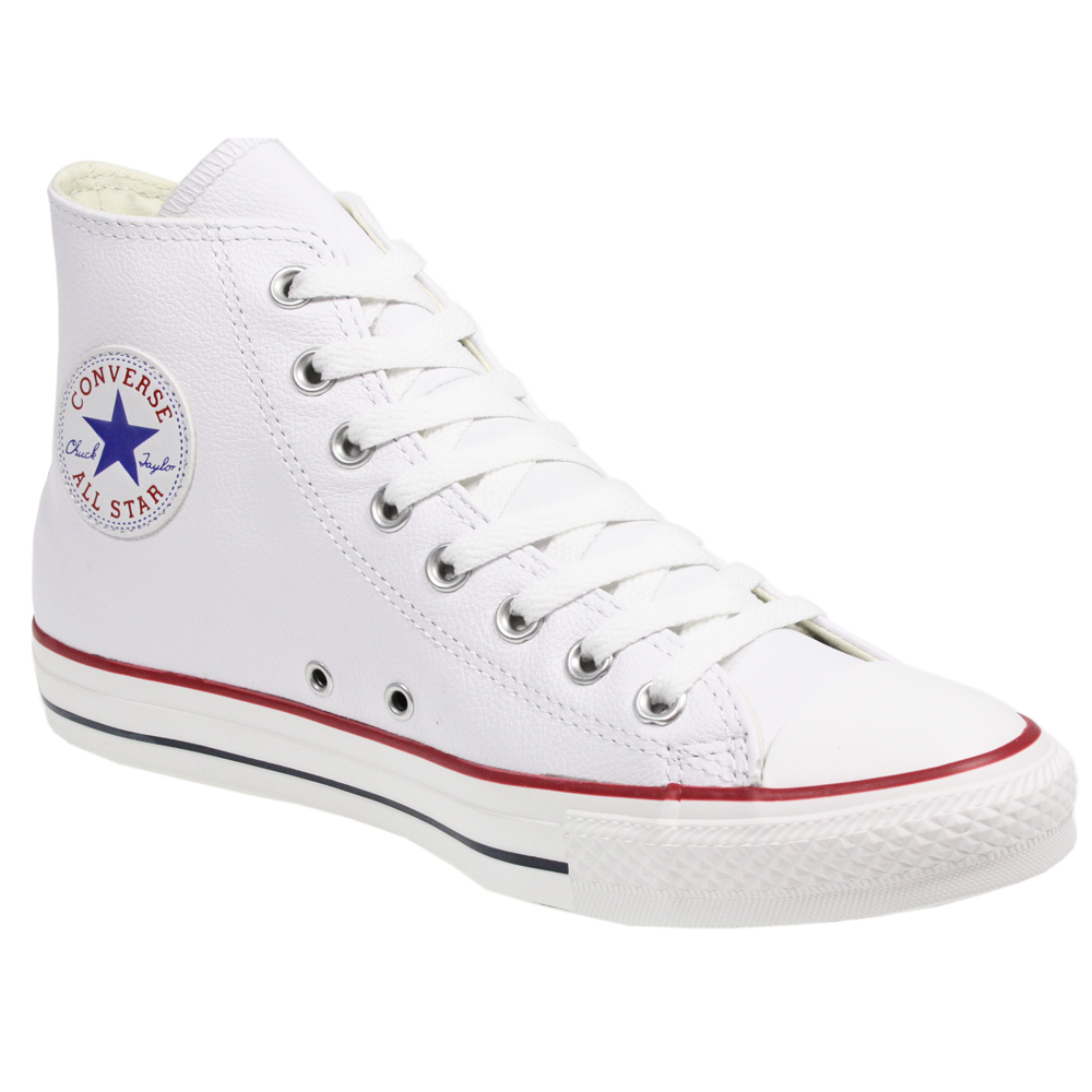 converse all star chuck taylor 132169 white leather hi top. Black Bedroom Furniture Sets. Home Design Ideas
