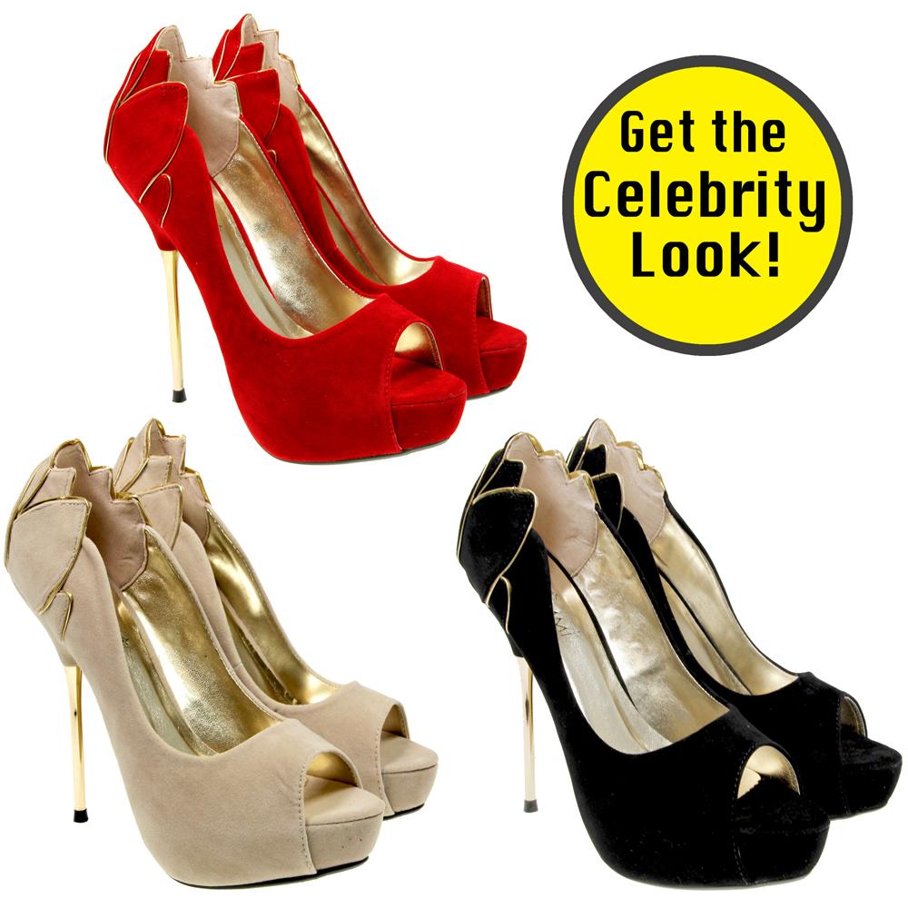 womens fashion peep toe high steel heel platform
