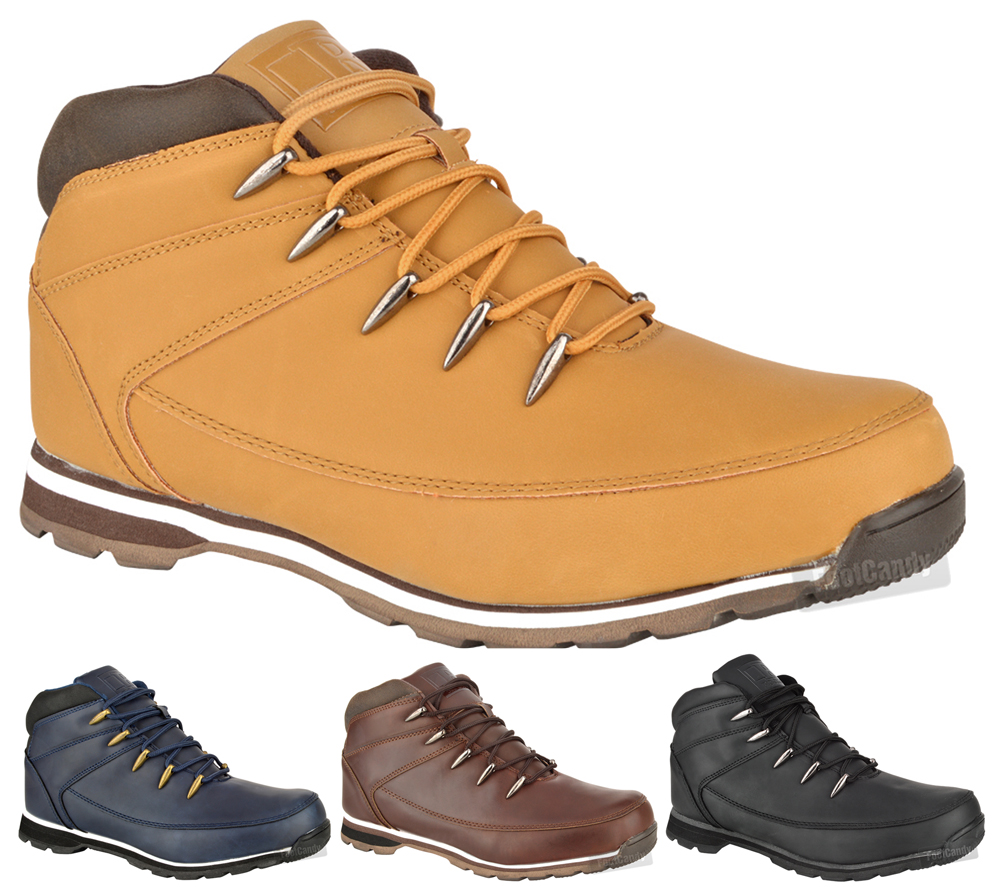 mens casual outdoor walking work hiking lace up ankle