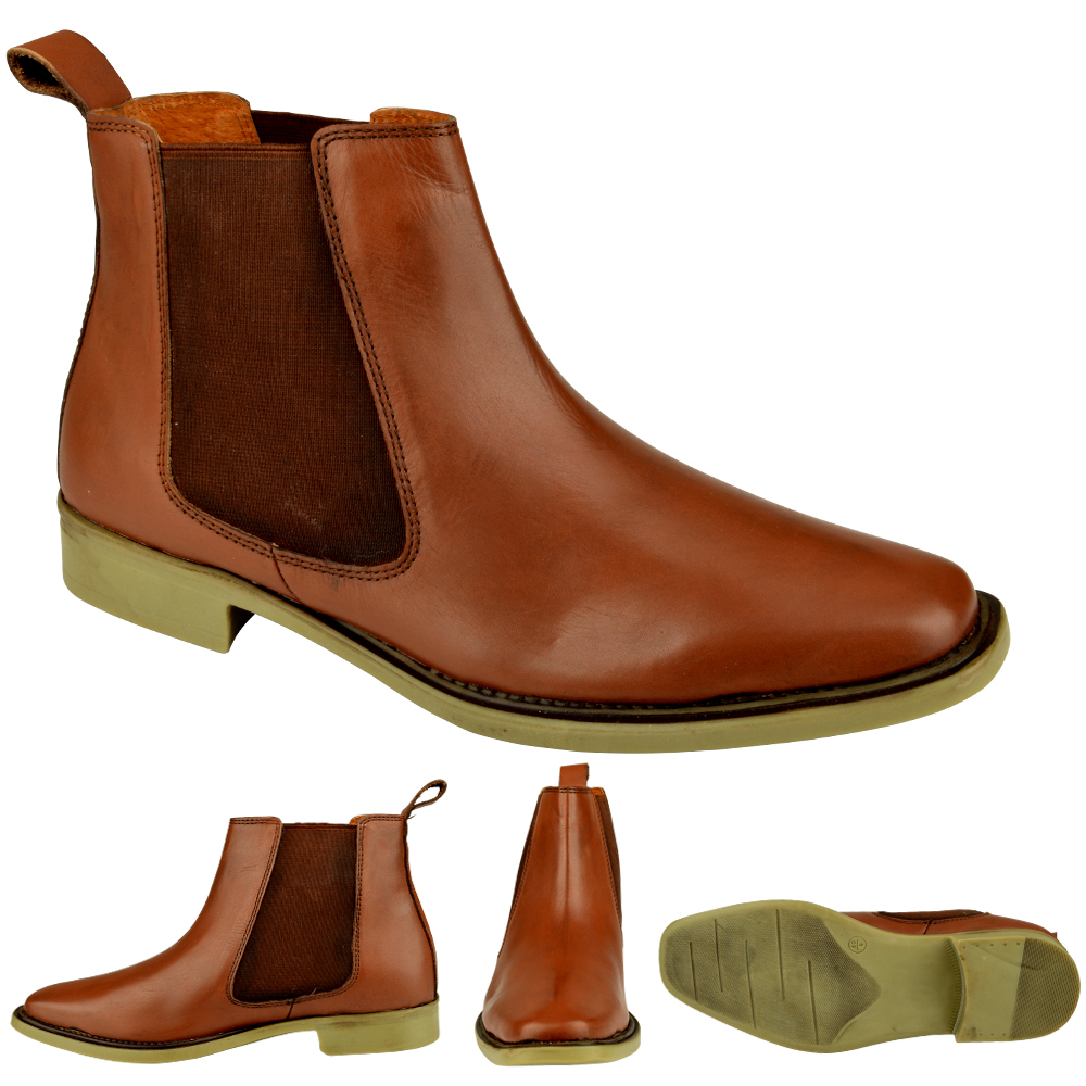 MENS-GENUINE-LEATHER-SLIP-ON-CHELSEA-DEALER-ANKLE-WINTER-OFFICE-SMART-BOOTS-SIZE