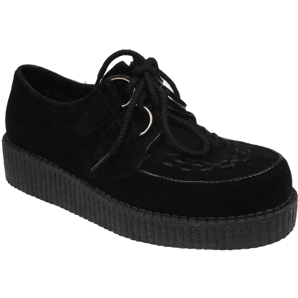 Shop Original T.U.K. Creepers - Velvet Creepers, Pointed Toe Creepers, Slip-On Creepers, Platform Creepers, Creeper Boots, Maryjanes & More Available in Vegan Friendly Material But Also Real Leather & Suede. Get Our Punk, Rock and Goth Creeper Platforms & Boots for Everyday Wear, EDM, Raves, Concerts & More.