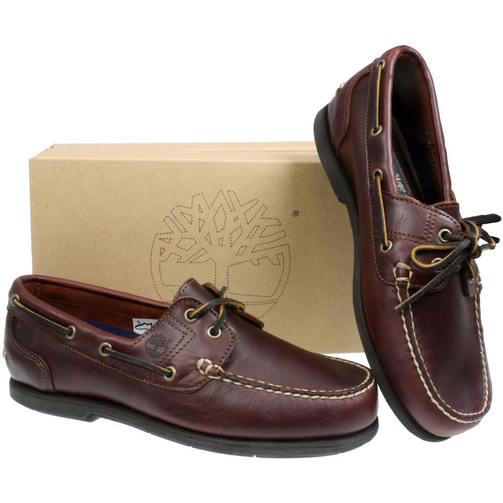 mens timberland 25045 classic leather 2 eye brown
