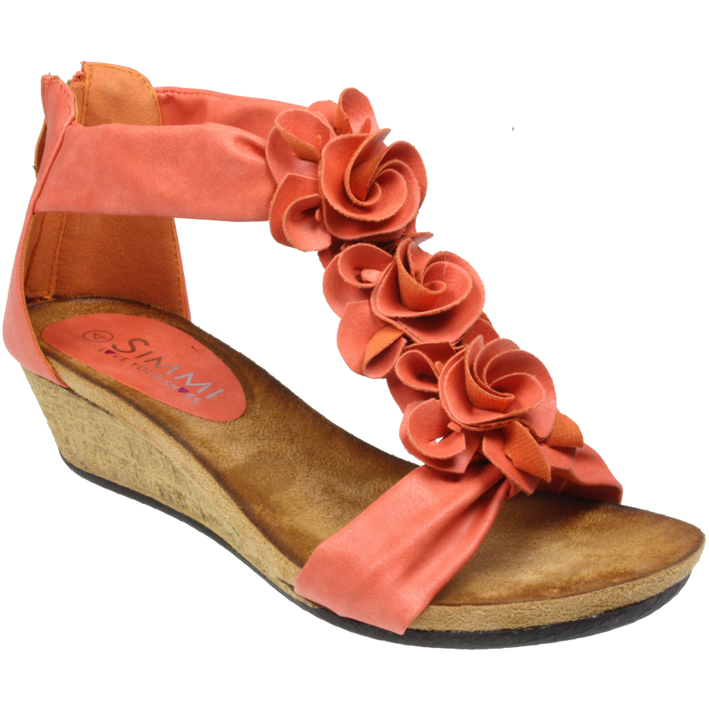 WOMENS-LADIES-FLAT-WEDGE-HEEL-FLAT-ZIP-OPEN-TOE-SUMMER-BEACH-FLOWER-SANDALS-SIZE