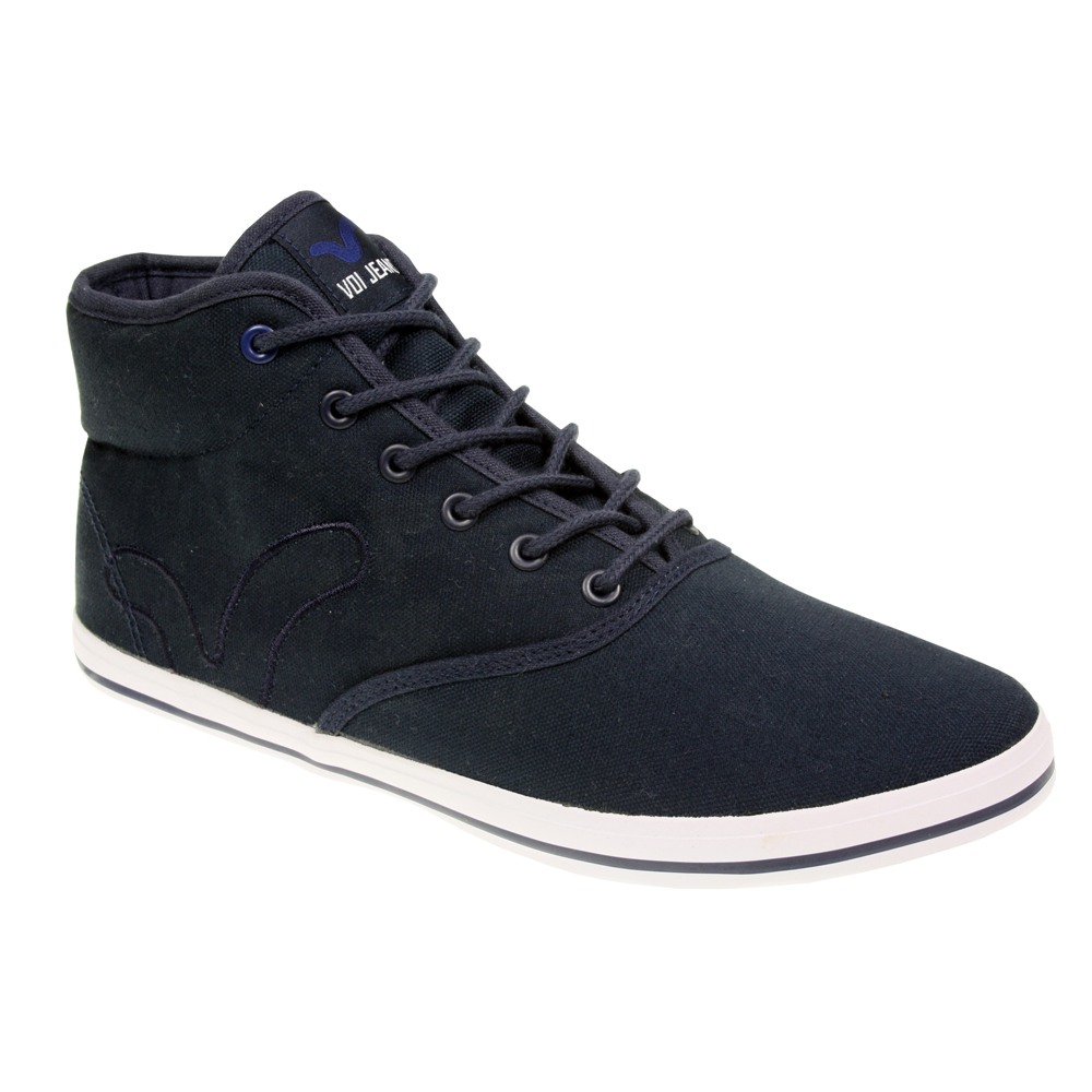 MENS-BOYS-VOI-JEANS-FIERY-MIRACLE-HI-CANVAS-FLAT-ANKLE-LACE-PLIMSOLES-SHOES-SIZE