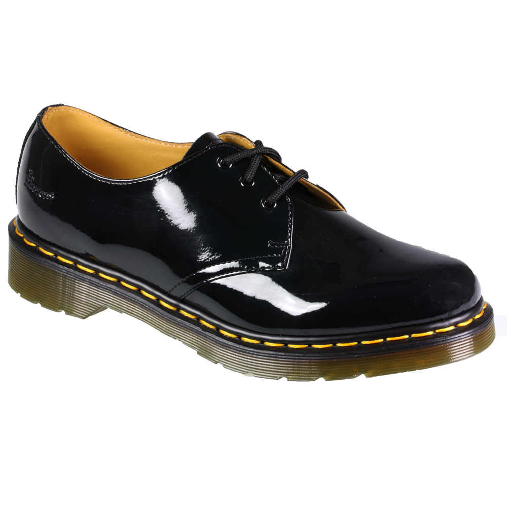 womens dr martens 1461 patent leather lace up black