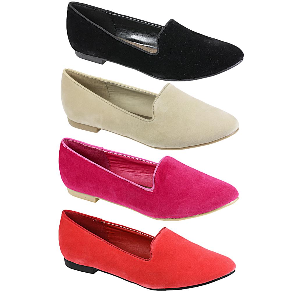 Image Is Loading Womens Las Flat Dandy Smart Office Loafers Pumps