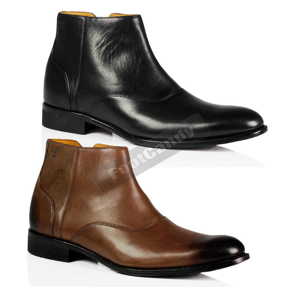 Details about MENS TIMBERLAND 74579 74580 AUBURN BLACK BROWN LEATHER  CHELSEA OFFICE BOOTS SHOE 2ce7448b7b3