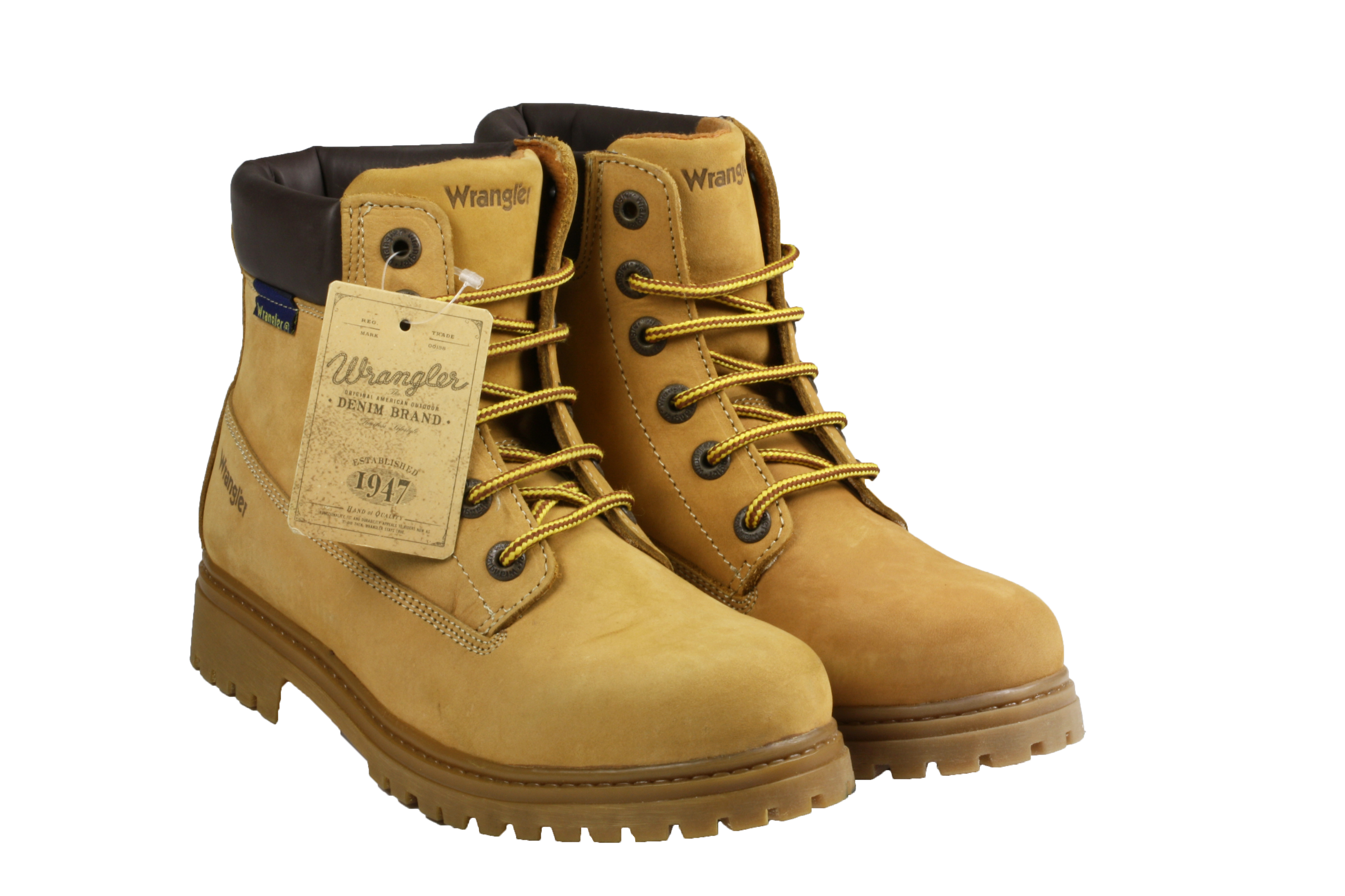 womens authentic wrangler navigate lace up ankle honey