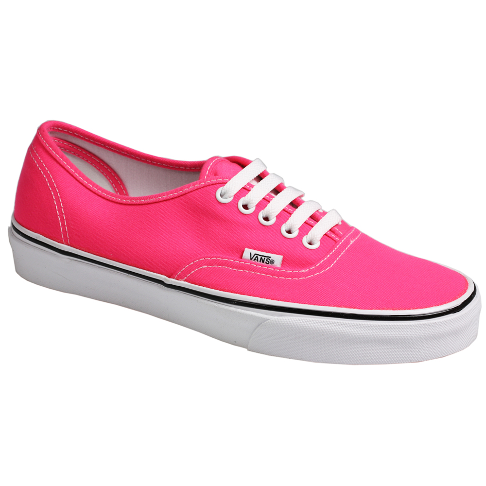 vans authentic skate board canvas sneaker neon pink