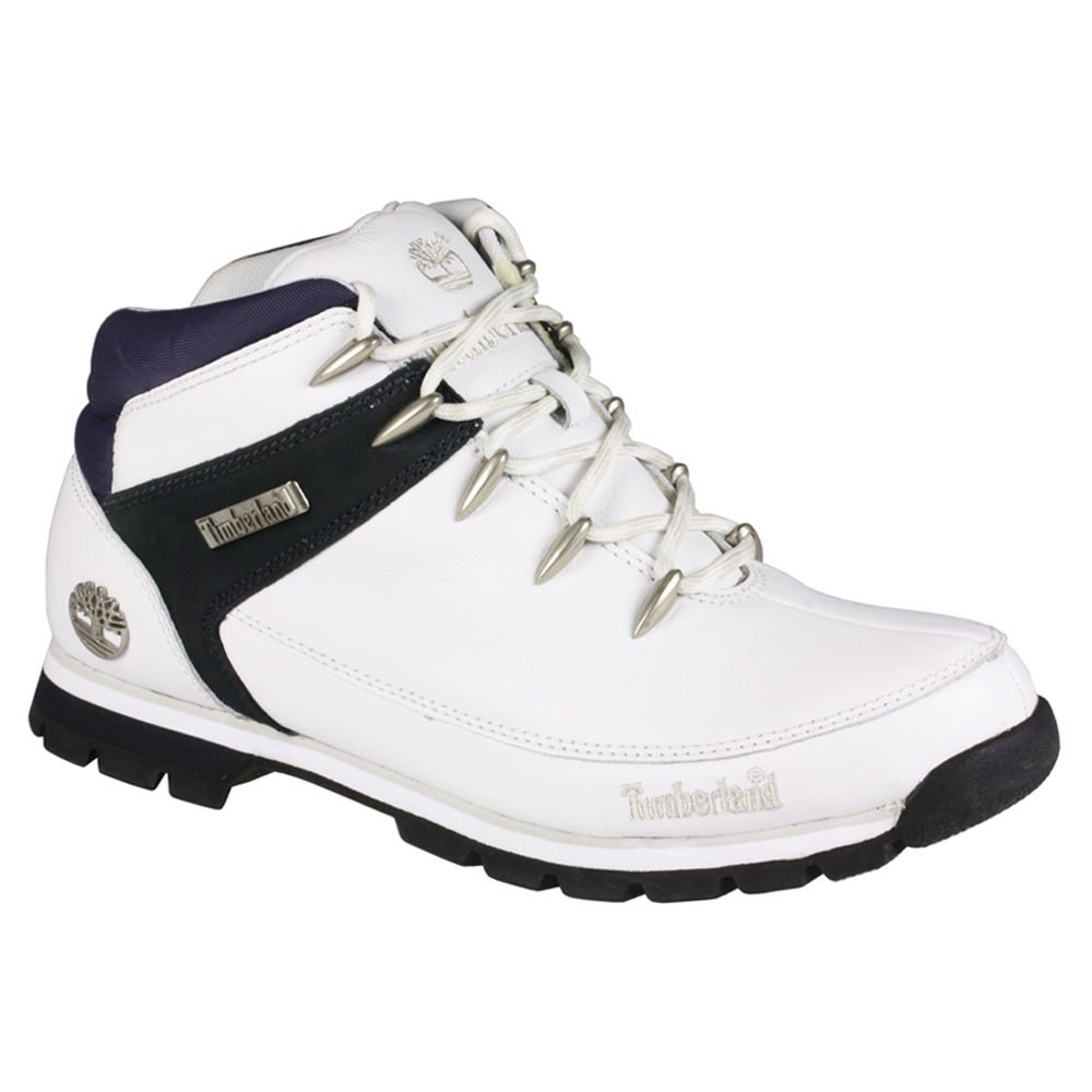 mens timberland 41534 sprint white leather boots size