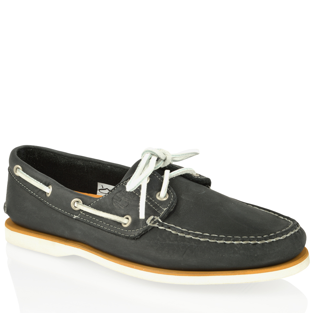 Mens Timberland Classic Leather 2 Eye Lace Up Casual Summer Boat Shoes