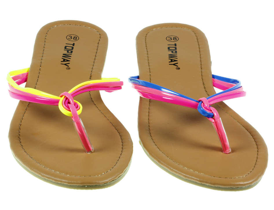 WOMENS LADIES FLAT FLIP FLOP SUMMER TOE POST NEON SANDALS BEACH HOLIDAY SIZE