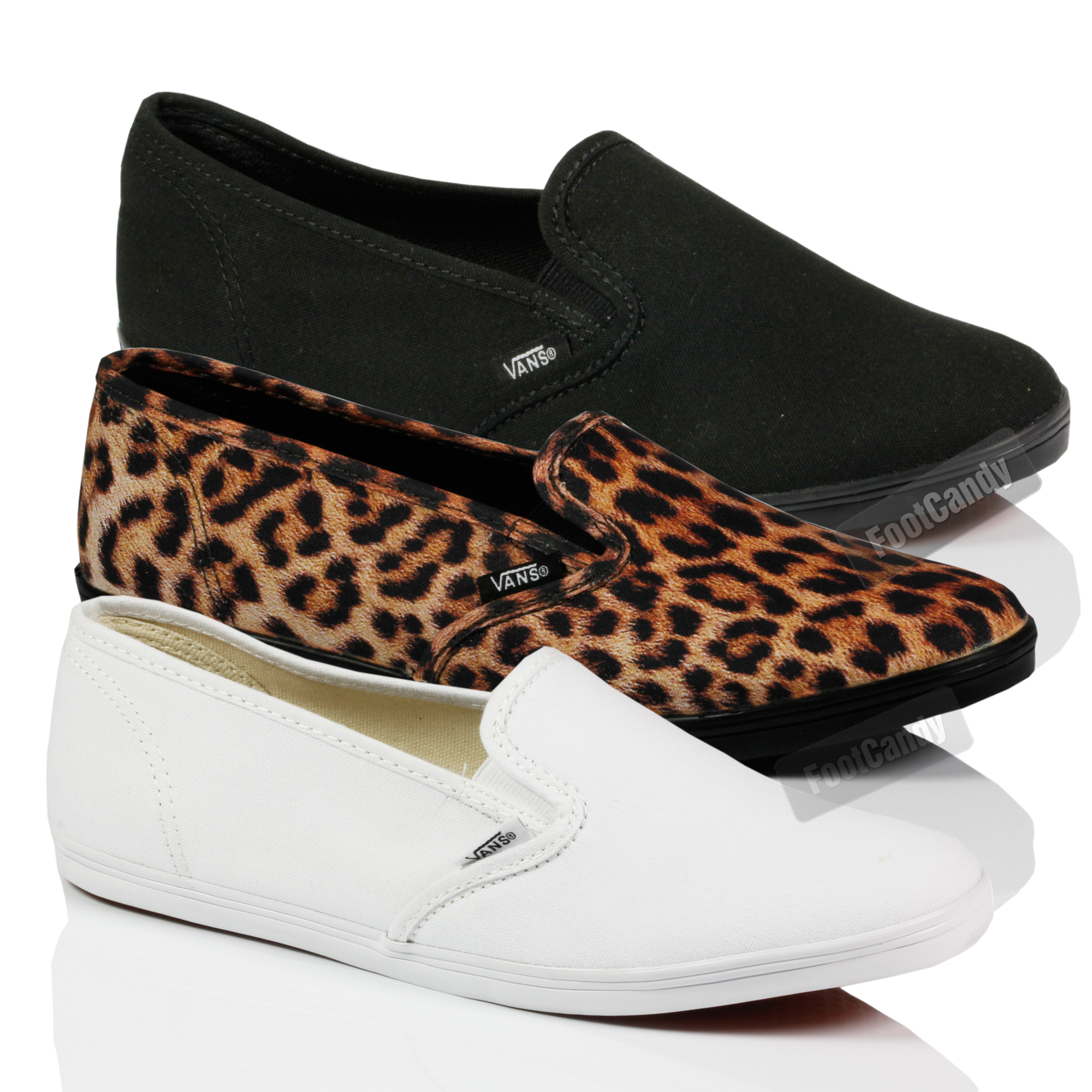 VANS-CLASSIC-LO-PROFILE-SLIP-ON-SKATE-GUSSET-DRY-LEX-FLAT-TRAINERS-SHOES-SIZE