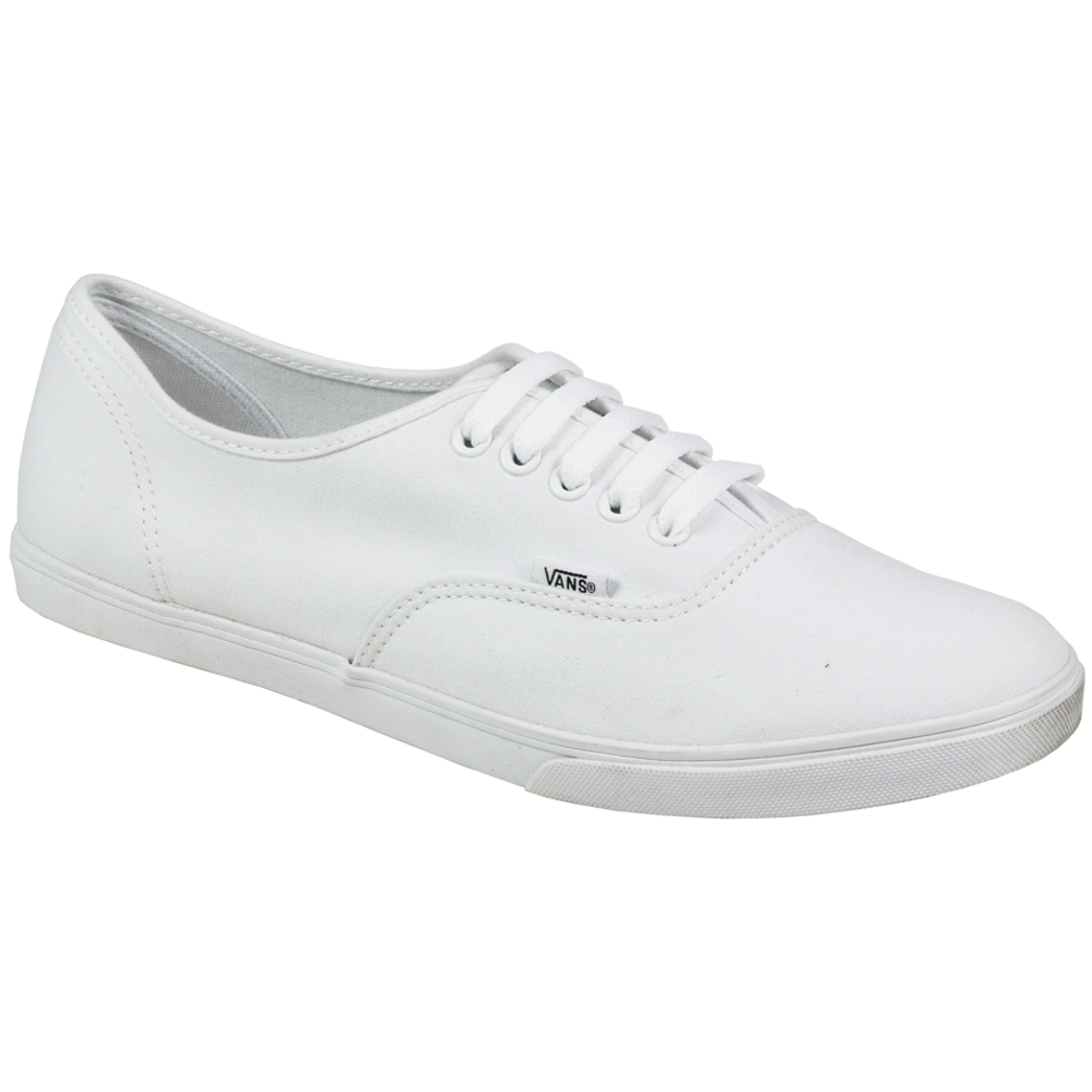 vans authentic lo pro white canvas sneakers skate board