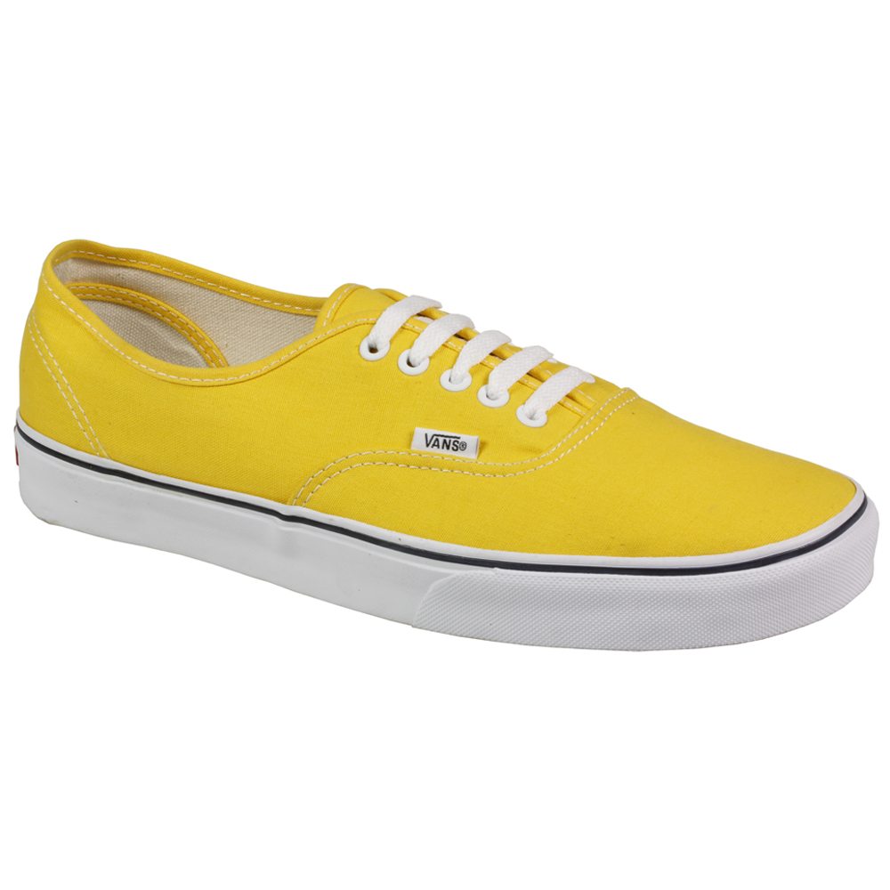 mens authentic vans sneaker skate board canvas yellow