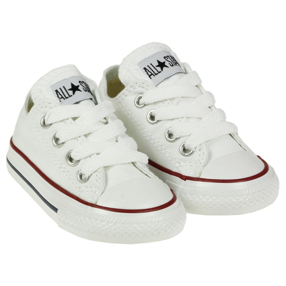 KIDS CONVERSE ALL STAR CHUCK TAYLOR 7J256 LO TOP WHITE