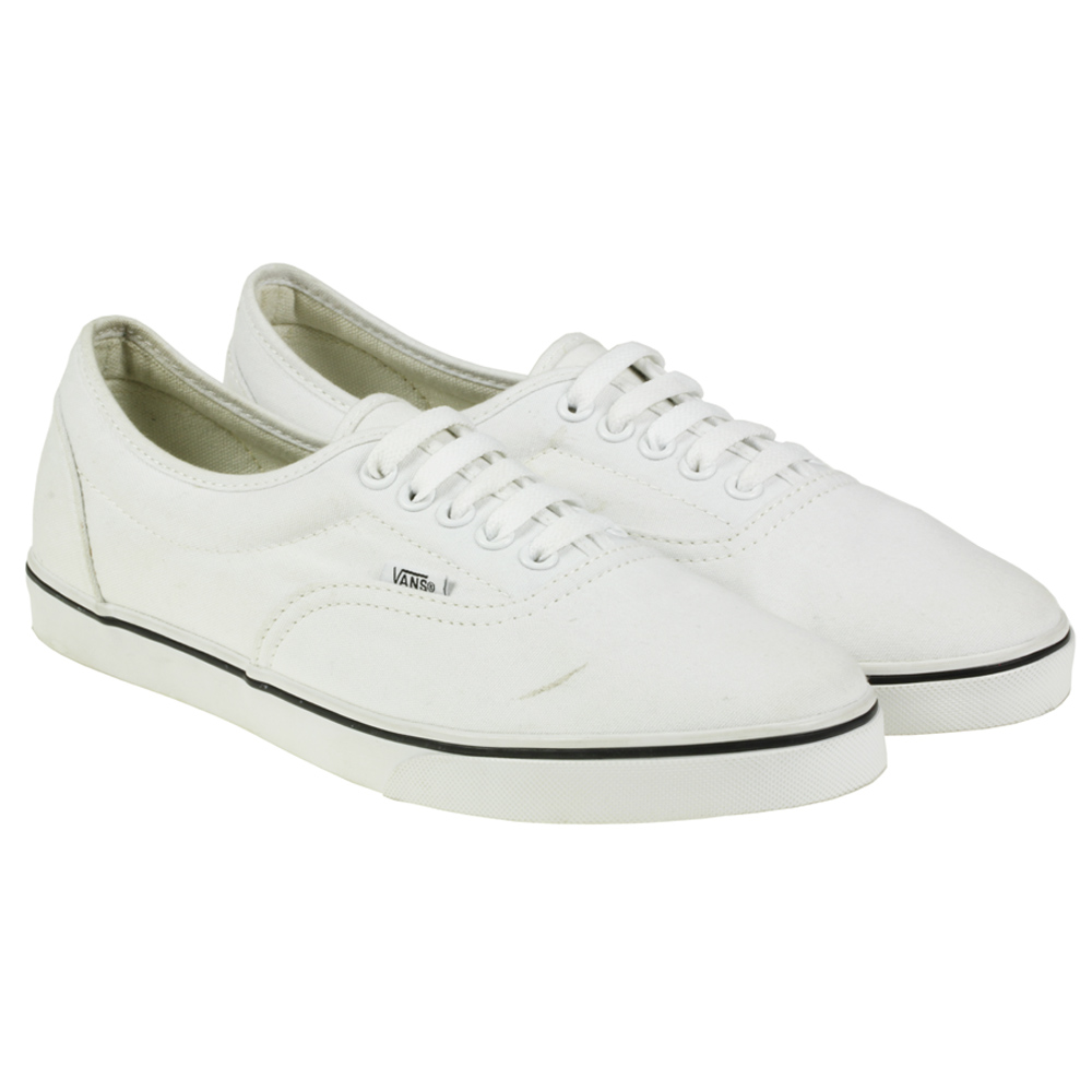 vans lpe low profile sneakers skate white canvas shoes