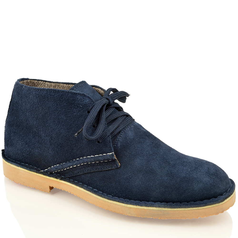 mens classic faux suede leather desert chukka casual ankle boots shoes size ebay. Black Bedroom Furniture Sets. Home Design Ideas