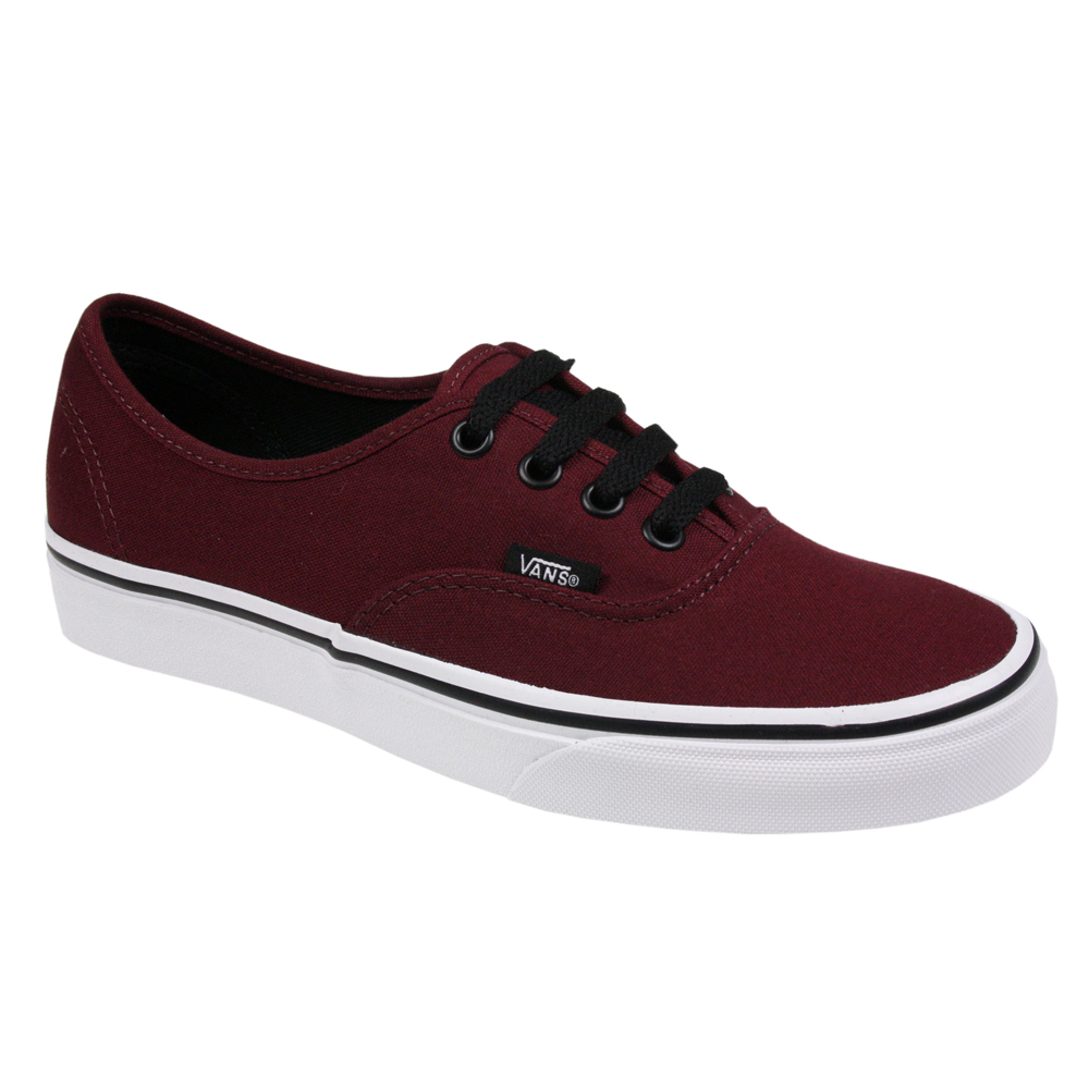 VANS AUTHENTIC MENS WOMENS CANVAS PORT BURGUNDY UNISEX SKATE TRAINERS SHOES SIZE | eBay
