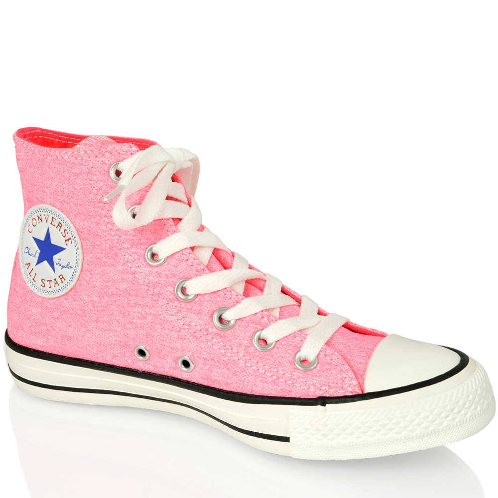 bd92a93802b2 Image is loading CONVERSE-ALL-STAR-CHUCK-TAYLOR-136581-NEON-PINK-