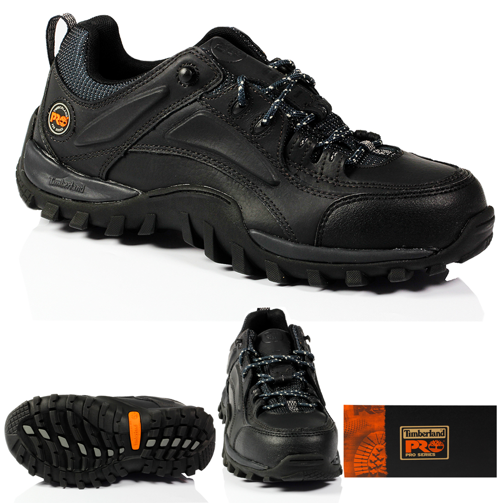 MENS TIMBERLAND 40008 MUDSILL SAFETY STEEL TOE WORK LEATHER BLACK SHOES TRAINERS | EBay