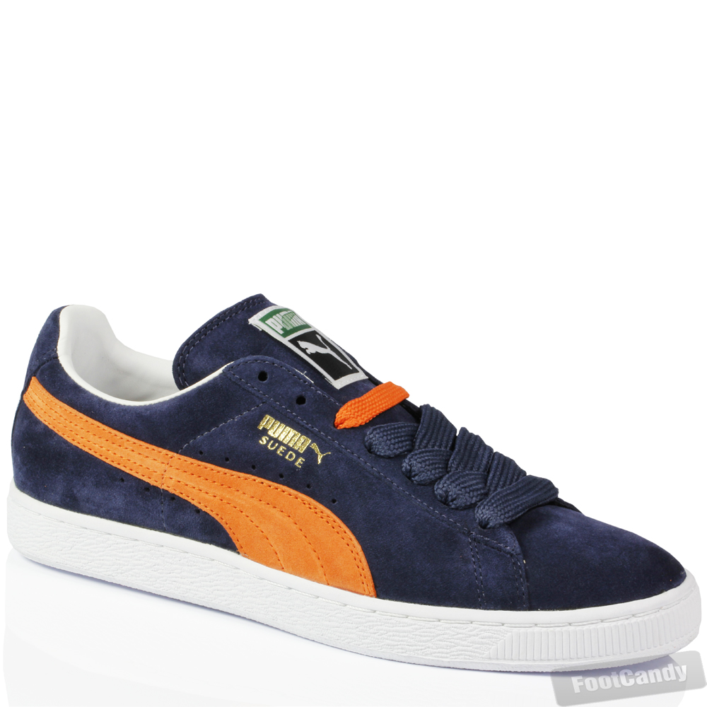 Mens Boys Puma Classic Suede Leather Skate Purple Navy Sport Trainers Shoes  Size 6e384100d6cb