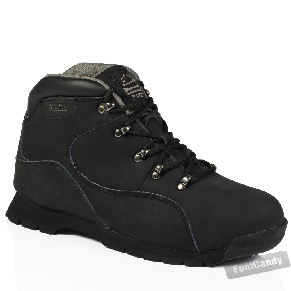 mens steel toe leather work safety lightweight ankle