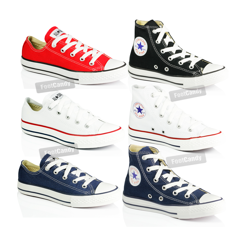 Kids-Converse-All-Star-Chuck-Taylor-Canvas-Hi-Lo-Girls-Boys-Trainers-Shoes