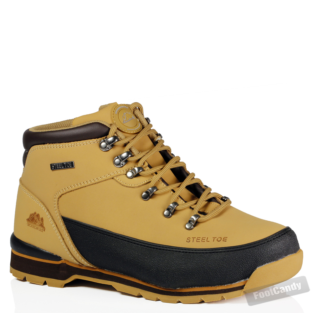 mens steel toe cap leather work safety outdoor lightweight