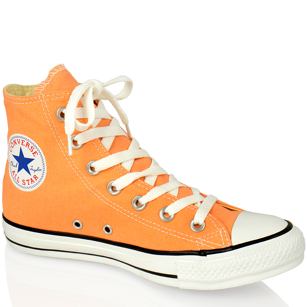 converse high tops orange Sale 25f32ec3d