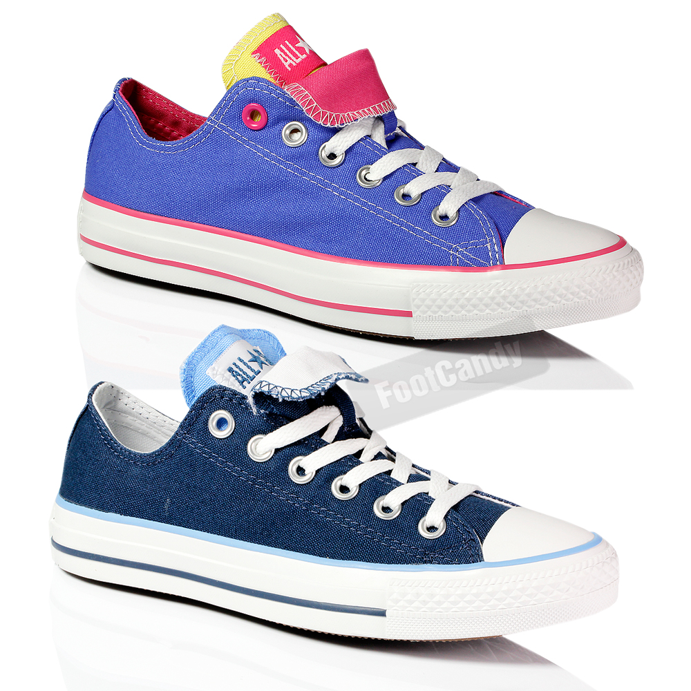 CONVERSE-ALL-STAR-CHUCK-TAYLOR-DOUBLE-TONGUE-CANVAS-LO-TOP-TRAINERS-SHOES-SIZE