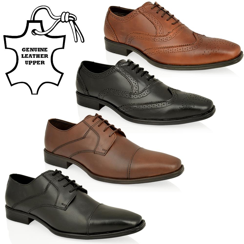 mens cuir v ritable formelle du travail de bureau parti dentelle intelligent oxford chaussures. Black Bedroom Furniture Sets. Home Design Ideas