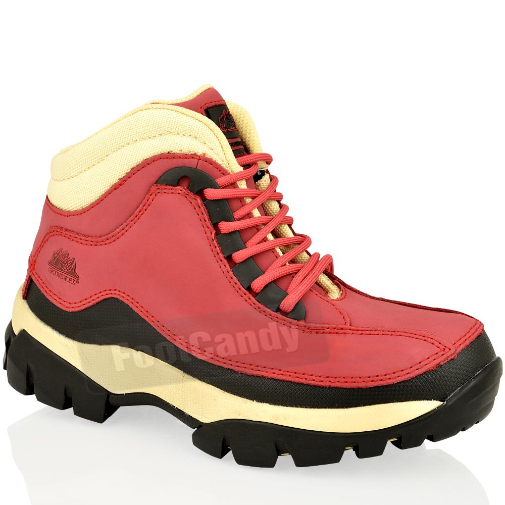 7f9c937a993 Mujer de las Señoras De Seguridad Puntera De Acero Zapatos botas de ...