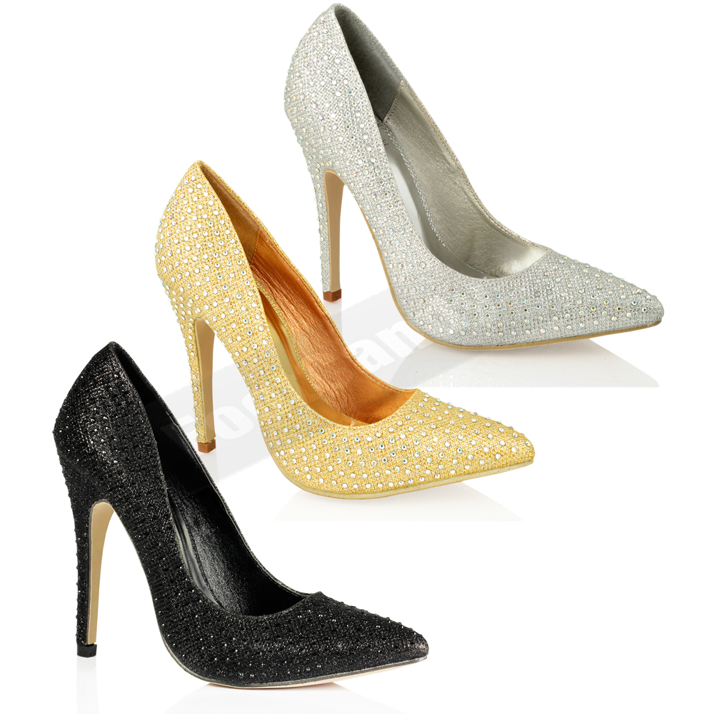 WOMENS-LADIES-HIGH-HEEL-STILETTO-GLITTER-DIAMANTE-PARTY-WEDDING-COURT-SHOES-SIZE