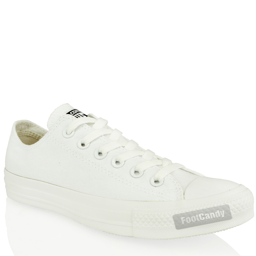 Converse-All-Star-Chuck-Taylor-1t747-Mono-White-Low-Canvas-Trainers-Shoes-Size
