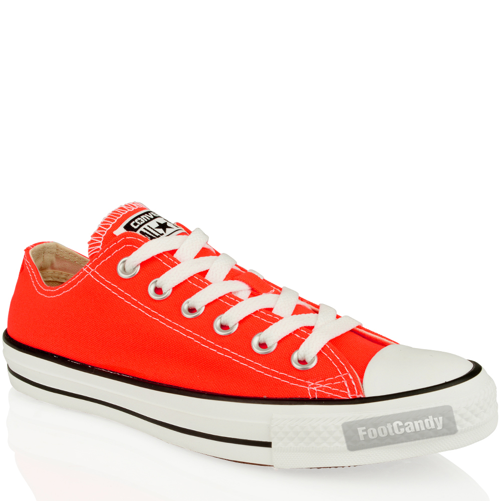 Converse-All-Star-Chuck-Taylor-139799-Coral-LO-Canvas-Skate-Sneakers-Shoes-Size