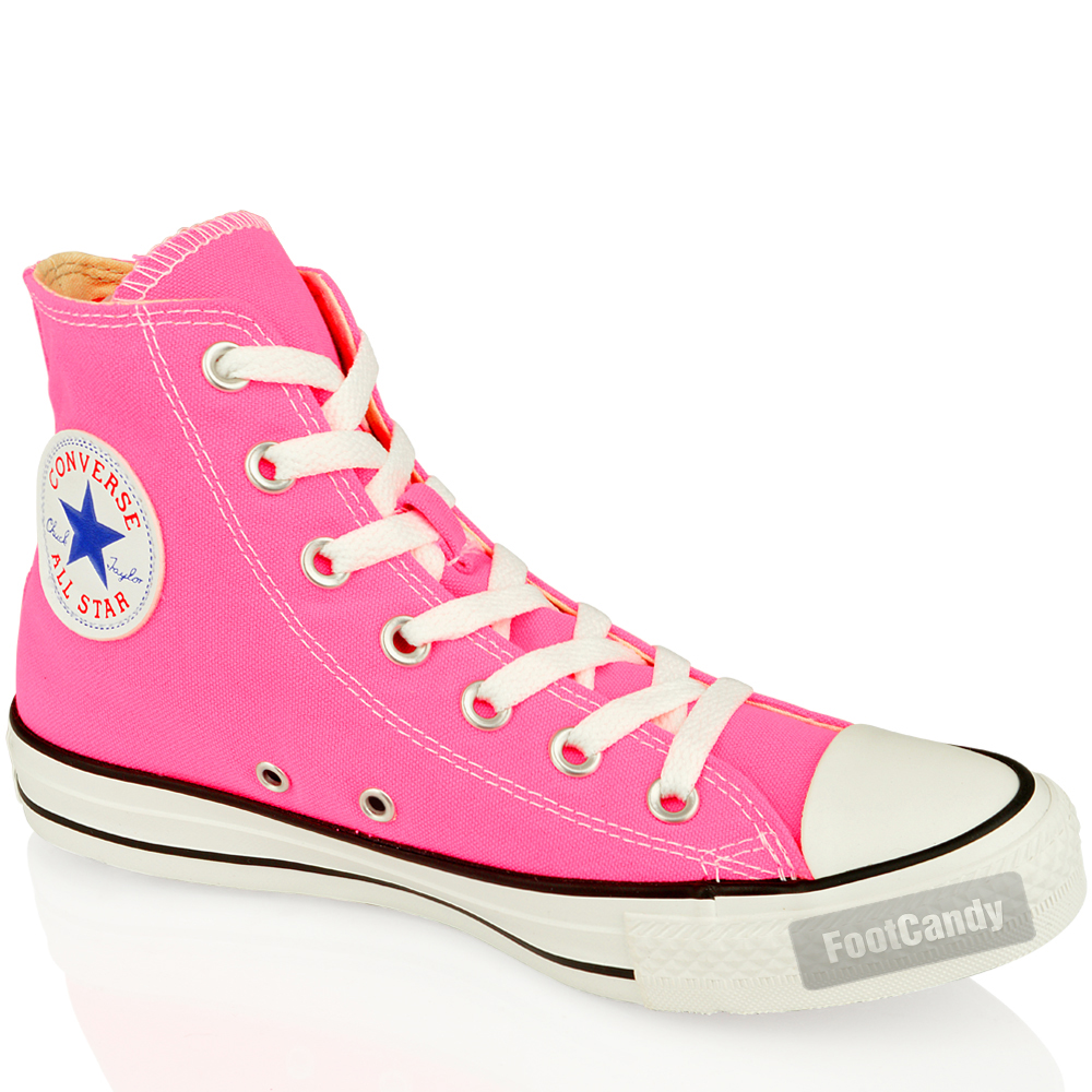 CONVERSE-ALL-STAR-CHUCK-TAYLOR-139780-PINK-HI-CANVAS-SKATE-SNEAKERS-BOOTS-SIZE