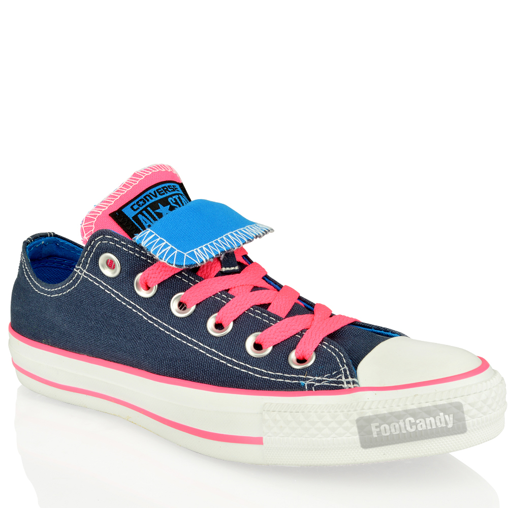 Converse-All-Star-Chuck-Taylor-140064-Double-Tongue-Blue-Canvas-Trainers-Shoes