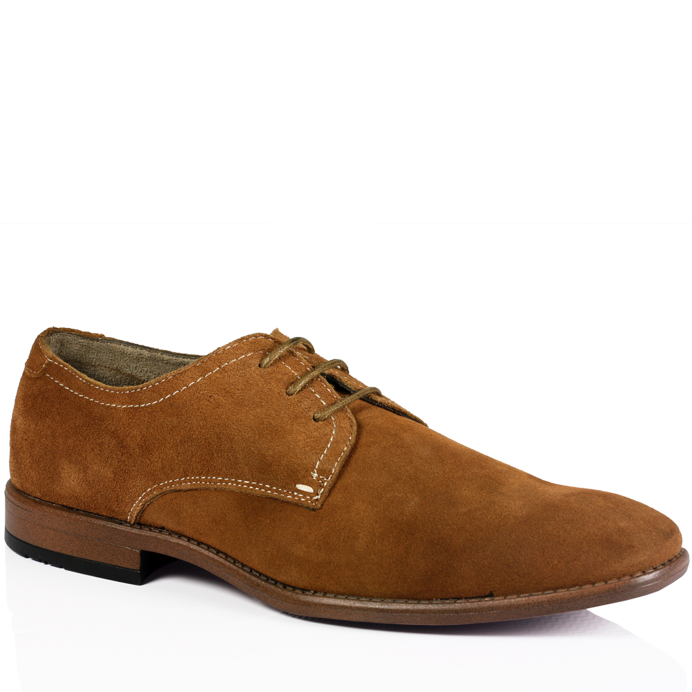 mens casual lace up soft suede work office smart oxford