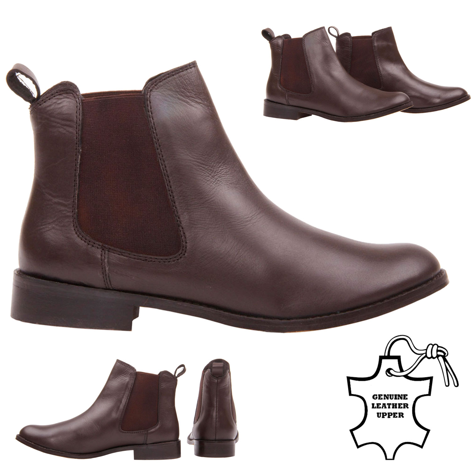 dark brown ankle boots