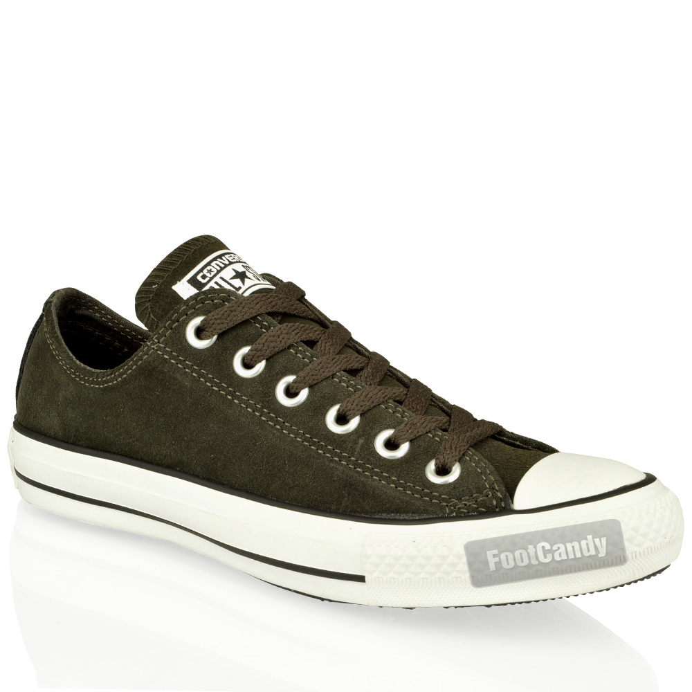 Converse-All-Star-Chuck-Taylor-140022-Charcoal-Leather-Suede-Lo-Trainers-Size