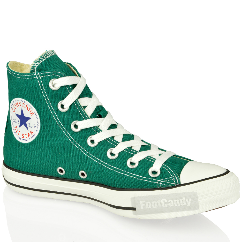 CONVERSE-ALL-STAR-CHUCK-TAYLOR-139786-HI-TOP-GREEN-CANVAS-SNEAKER-BOOTS-SIZE