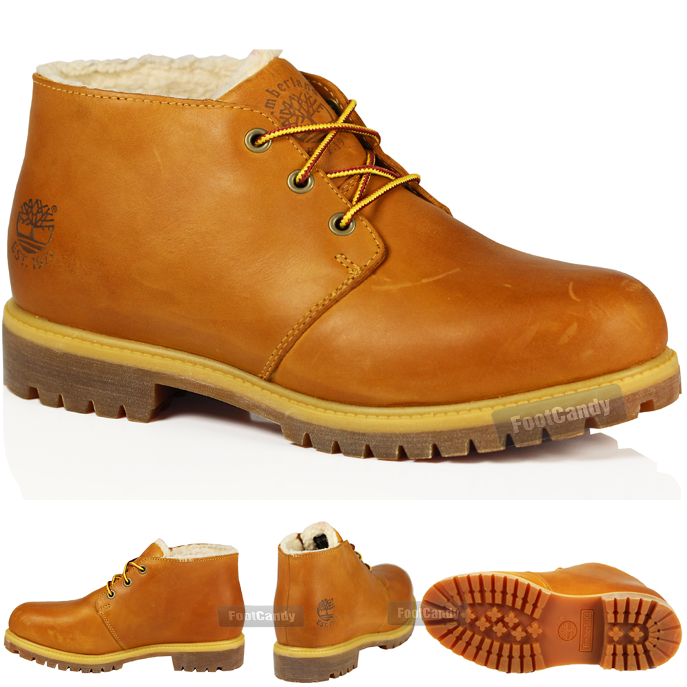 Image is loading MENS-TIMBERLAND-6112R-CASUAL-WINTER-CHUKKA-WHEAT-LEATHER- c961a1529