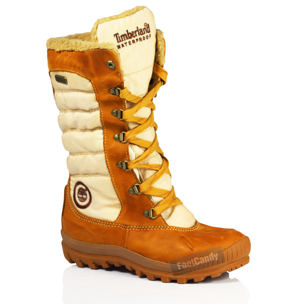 WOMENS LADIES TIMBERLAND KNEE HIGH SNOW FUR WATERPROOF