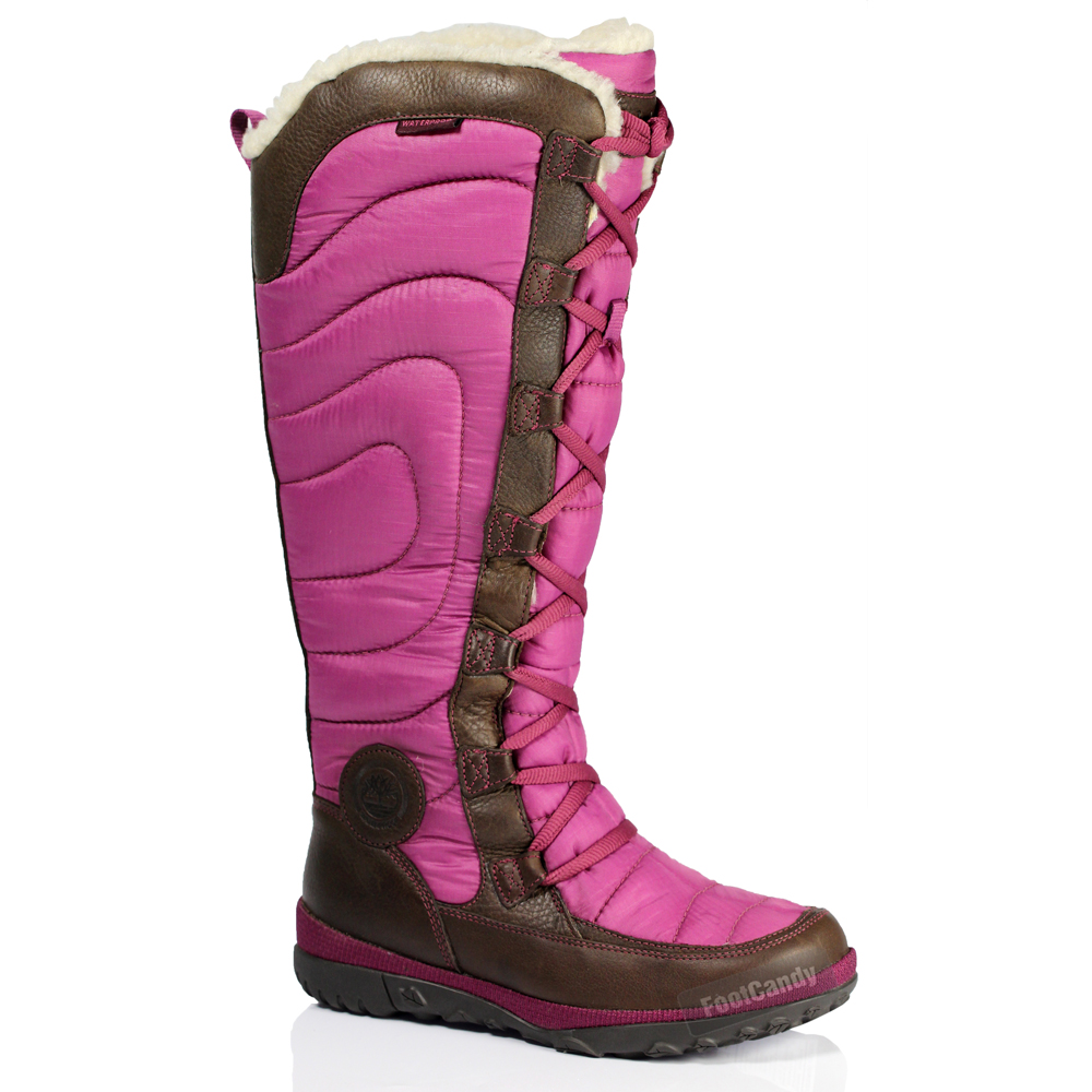 womens timberland knee high snow fur waterproof