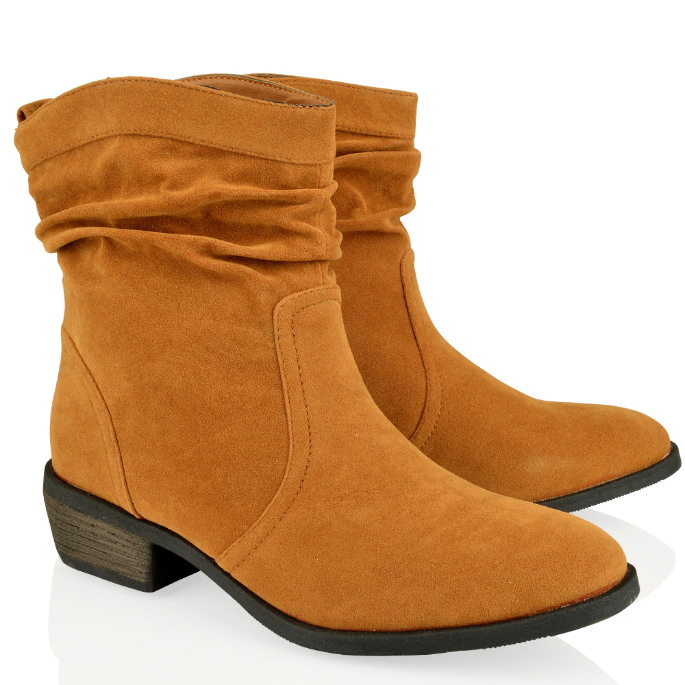womens fashion ankle knee high suede wedge flat
